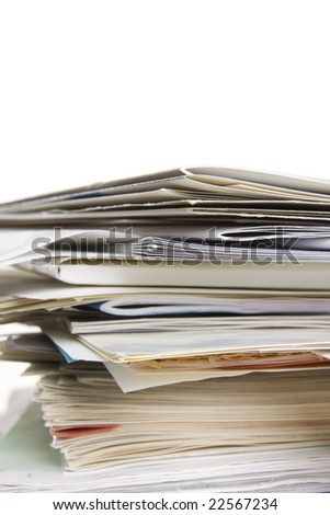 big stack of papers (documents)
