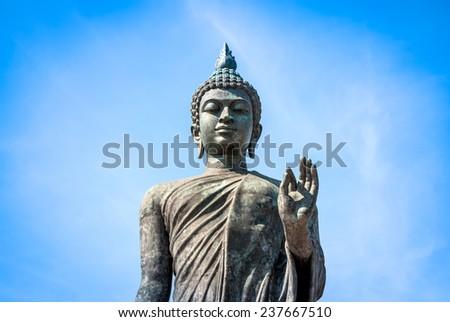 big standing buddha in Asia - stock photo