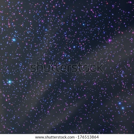 Big star-field photographed through a telescope. - stock photo