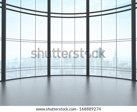 big sunlight hall and window - stock photo