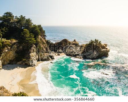 Big Sur in California, USA - stock photo