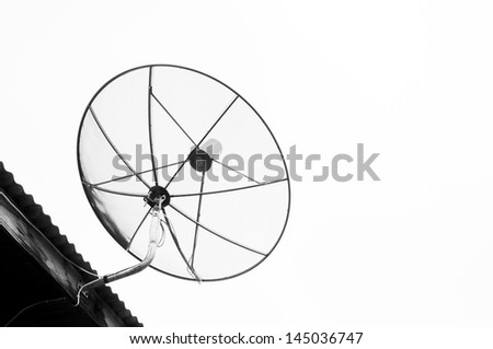 Big telecommunication satellite dish