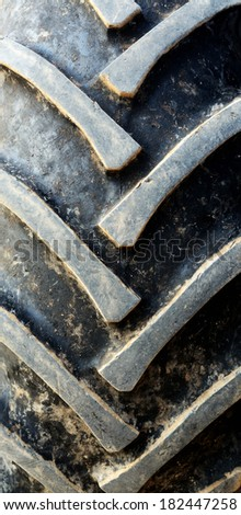 big tractor tire background - stock photo
