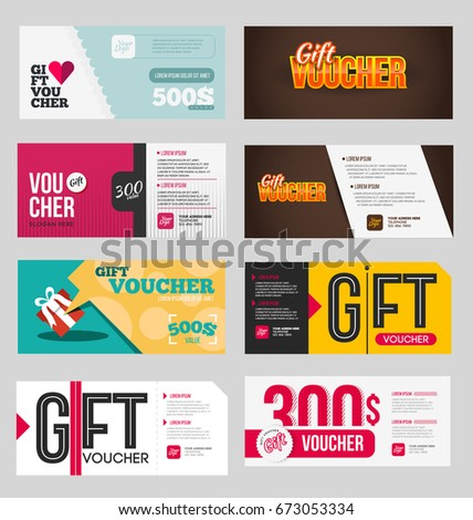 Flyer Design Template Sale Shopping Concept Stock Vector