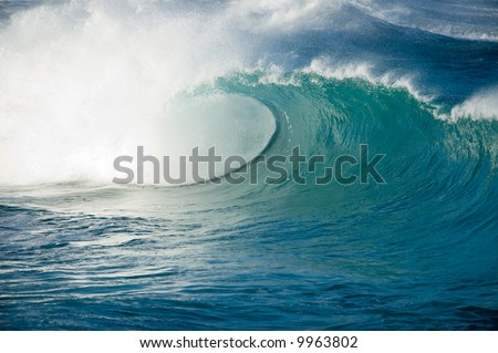 big wave - stock photo