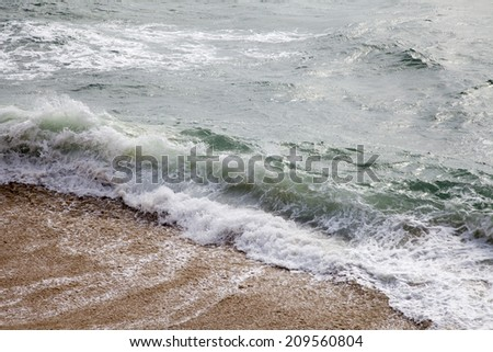 big wave breaking - stock photo