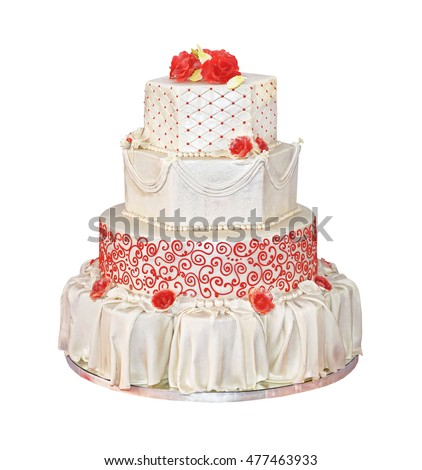 Big Wedding Cake With Four Tiers