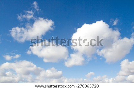 Big white cloud and blue-sky