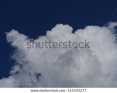 big white cloud and blue sky background