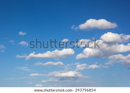 Big white cloud and bluesky - stock photo