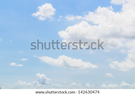 Big white cloud with bluesky - stock photo
