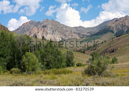 Big Wood Valley, Idaho - stock photo