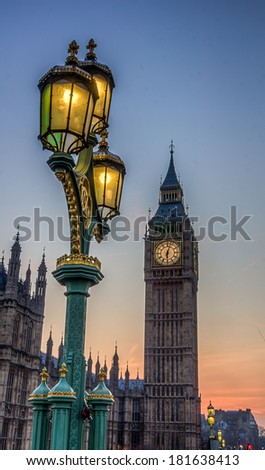 BigBen Sunset HDR