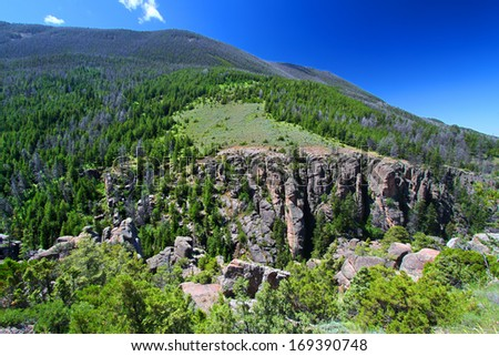 Bighorn National Forest in Wyoming - stock photo