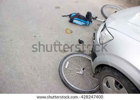 bike accident - stock photo