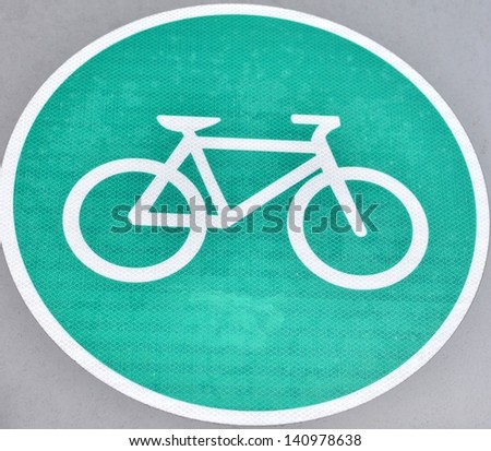 Bike allowed sign - stock photo