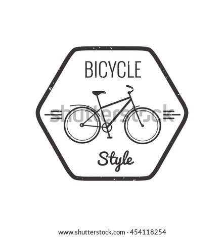 Bike badge outline  icon  isolated. Bike  logo for bicycle design. Training concept bike badge isolated logo. Bicycle badgeisolated - stock photo