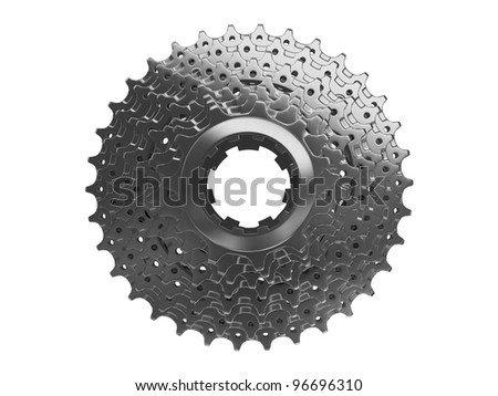 bike cassette alloy top view - stock photo