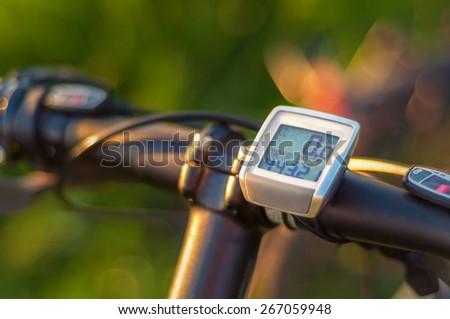 Bike computer - stock photo