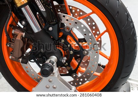bike exhibition - stock photo