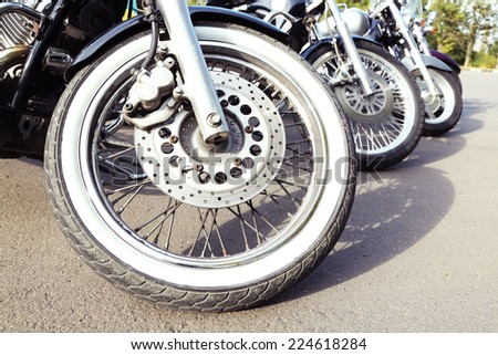 Bike exhibition, outdoors - stock photo