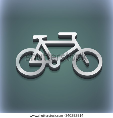 bike icon symbol. 3D style. Trendy, modern design with space for your text illustration. Raster version - stock photo