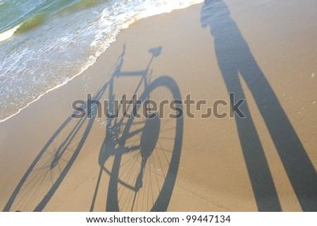 Bike on the sand - stock photo