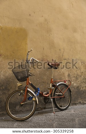 Bike on the street of Florence - stock photo