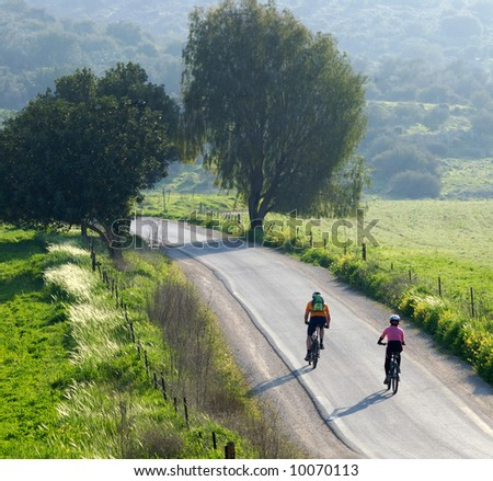 bike riders - stock photo