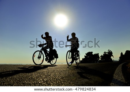bike rides in the nature sunrise