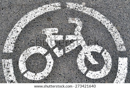 bike route sign - stock photo