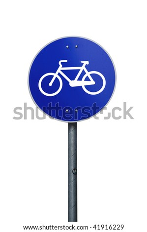 Bike track sign road sign