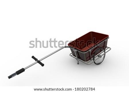 Bike trailer - stock photo