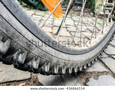 Bike Wheel - stock photo