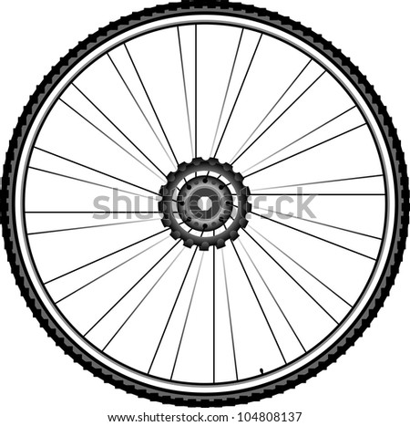 Bike wheel isolated on white background. bicycle wheel Icon