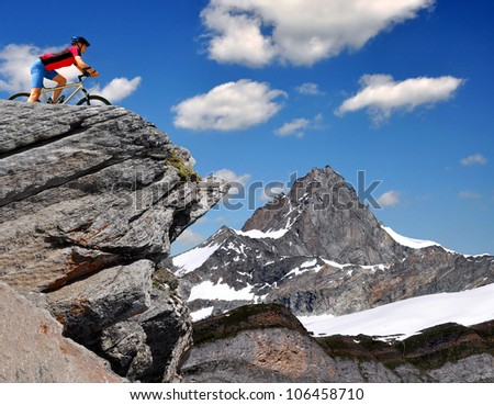 biker in the Swiss Alps
