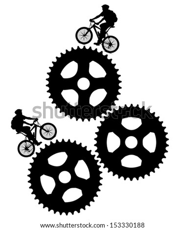 bikers design - stock photo