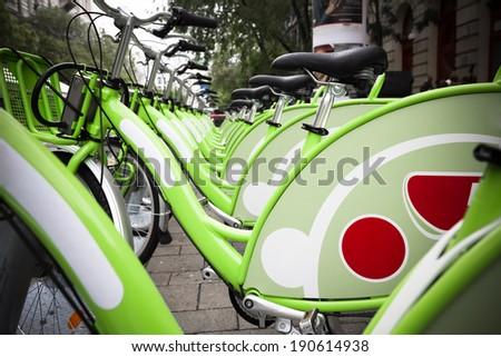 bikes for rent - stock photo