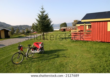 Biking trip - stock photo