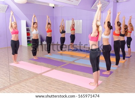 Bikram Hot Yoga class is in session