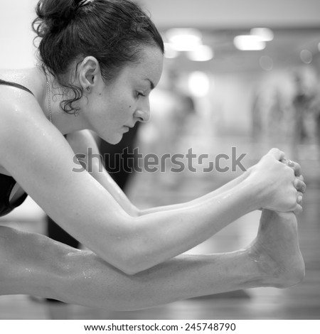 Bikram yoga therapy for hand and wrist  - stock photo
