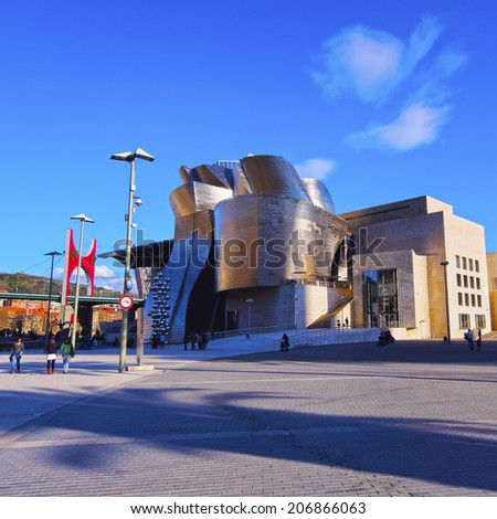 BILBAO, SPAIN - MARCH 9, 2013: The Guggenheim Museum in Bilbao, Biscay, Basque Country, Spain
