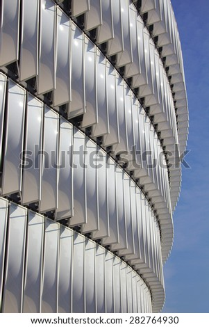 BILBAO, SPAIN - MAY 28 2015:  Detailed view of San Mames, Athletic Club football team home stadium. Bilbao, Basque Country - Spain - stock photo