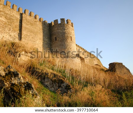 Bilhorod-Dnistrovskyi fortress is a historical and architectural monument of XIV centuries. Country Ukraine.