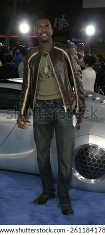 "Bill Bellamy at the Los Angeles premiere of ""I, Robot"" held at the Mann Villa Theater in Westwood, USA on July 7, 2004. - stock photo"
