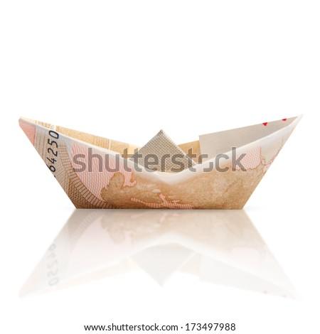 bill boat isolated - stock photo
