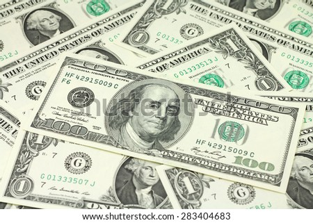 bill hundred dollars abstract background