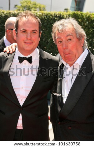 Bill Jones and father Terry Jones at the 2010 Primetime Creative Arts Emmy Awards,  Nokia Theater L.A. Live, Los Angeles, CA. 08-21-10