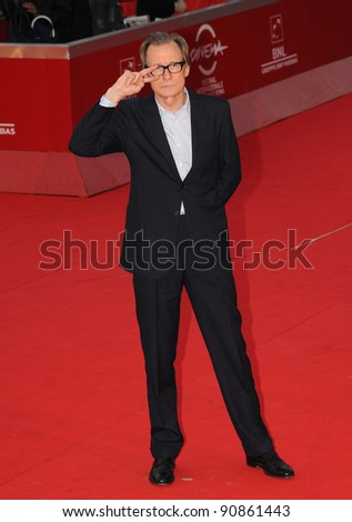"Bill Nighy attends the premiere of ""Page Eight"" during the 6th International Rome Film Festival. November 1, 2011, Rome, Italy Picture: Catchlight Media / Featureflash"