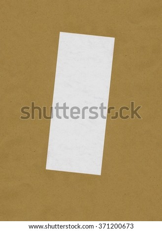 bill or receipt isolated over beige background with copyspace